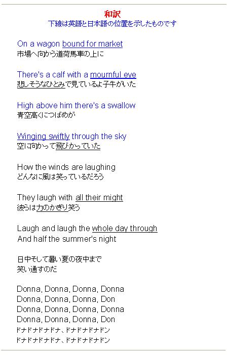 Donna Donna - Translation