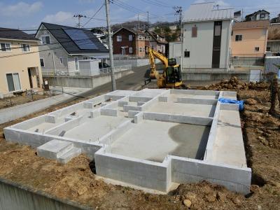 鎌田工務店 ベタ「基礎工事 完了