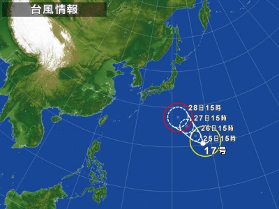 09-25 台風の進路
