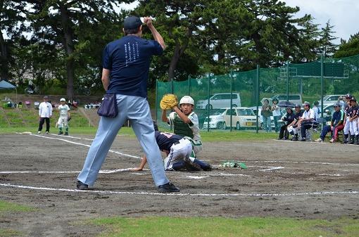 日ハム一回戦⑬これがまたまた見事に本塁タッチアウト!!