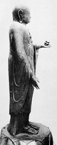 観音寺・地蔵菩薩立像側面(美術院修理時写真)