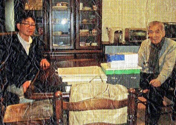 中野玄三氏と対話する加須屋誠氏