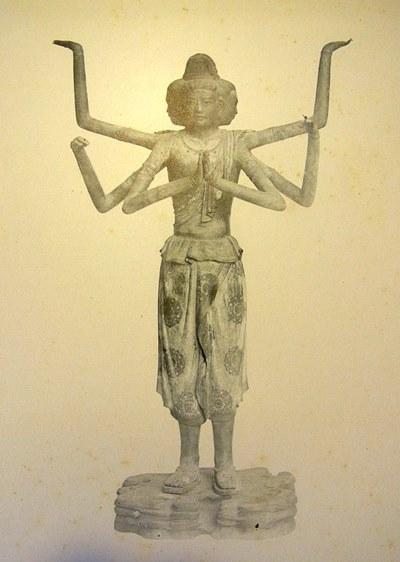 明治44年(1911)奈良帝室博物館出陳仏像写真(興福寺・阿修羅像)