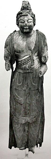 修理前の廣智寺・多臂観音菩薩立像