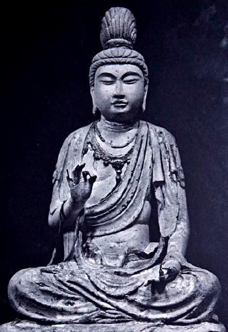 法隆寺五重塔塔本塑像・文殊菩薩像(東面・2号像)