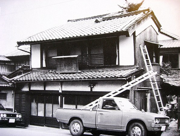 看板の下ろされた日の日吉館(昭和57年・1982年12月31日)