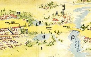 東海道分間延絵図:小田原宿江戸口付近