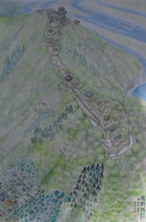 龍野古城復元図