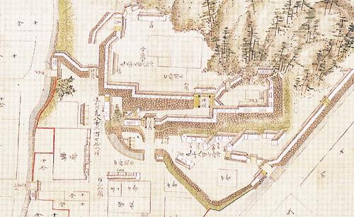 龍野城古地図