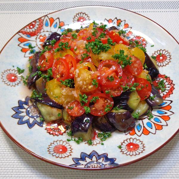 茄子とミニトマトのマリネ添え10