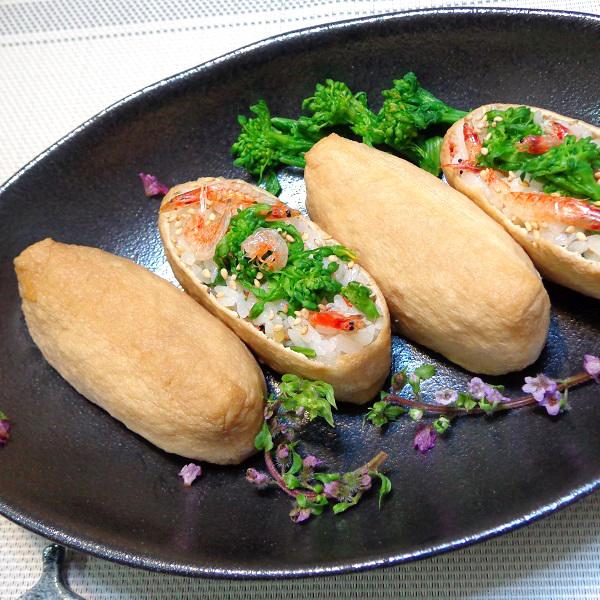 桜えびと菜の花の柚子胡椒いなり寿司02