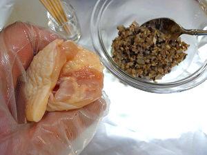 鶏手羽先のきのこ詰め トマトソースと白ワイン煮17