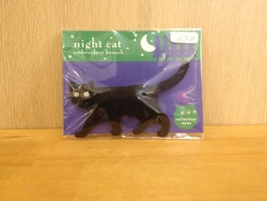 猫のブローチ入荷(630円)です。