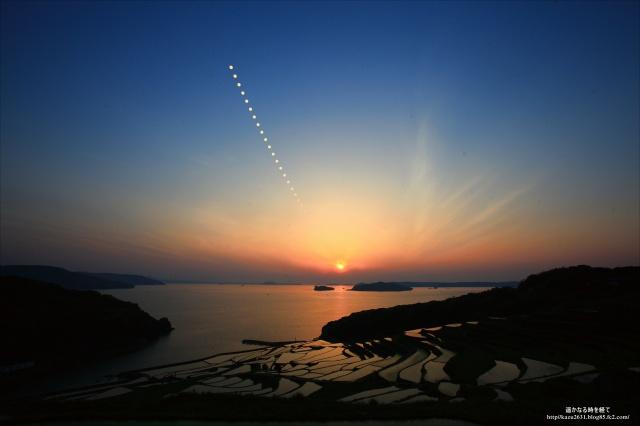 土谷棚田 夕陽