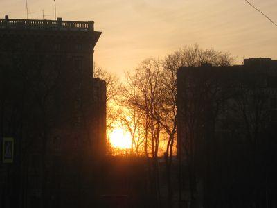 凄い夕日25032014