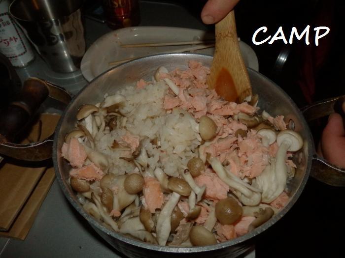 鮭きのこご飯