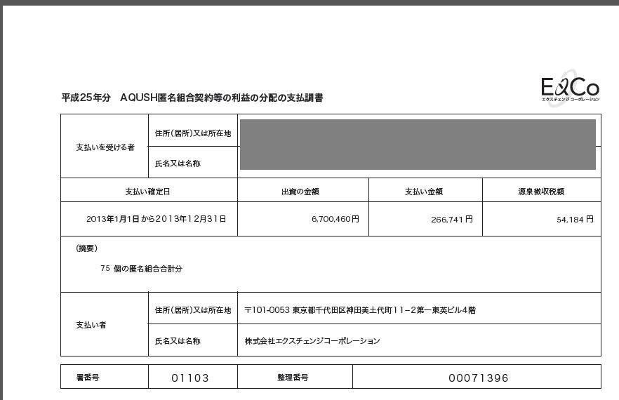 確定申告資料(AQUSH)20140219