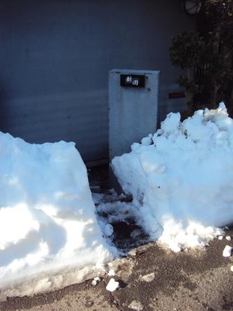 雪かきして通路を作る