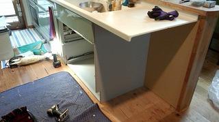 食洗機設置工事 (1)