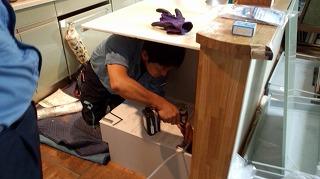 食洗機設置工事 (3)