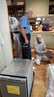 食洗機設置工事 (4)