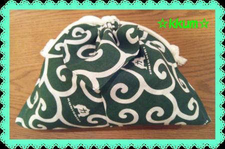 バンダナ 巾着 緑