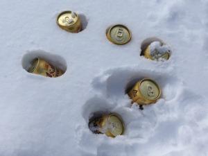 20140303 焼肉 ビールを冷やす
