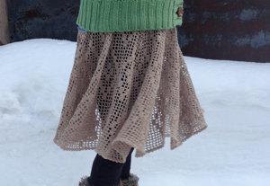 20140317 方眼編みのスカート