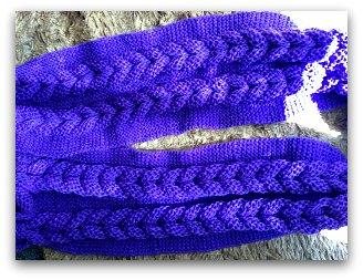 20140414 変な縄編みマフラー完成