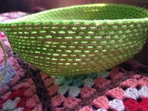 20140602 農業資材の麻紐で編むカゴ