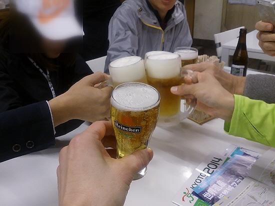 2014.2.26 メリパナイトラン打ち上げ。メリケン亭ヽ(^o^)丿