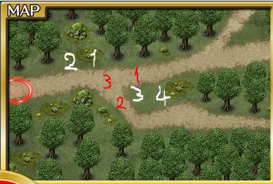 千年戦争応用演習:強敵MAP配置