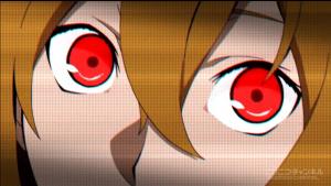 アニメ3話 テーブルのモモの赤い目