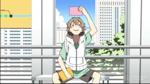 アニメ4話 ヒビヤ にやける