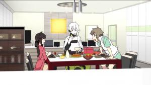 アニメ4話 モモがアイドルに気付くヒビヤ