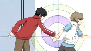 アニメ8話 シンタローが手をつかむ