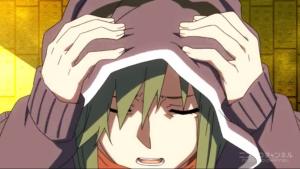 アニメ8話 頭を抱えるキド