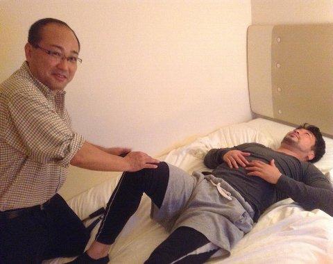 試合前ヨンデさんの治療480×380