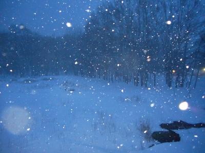 今月4度目の地吹雪