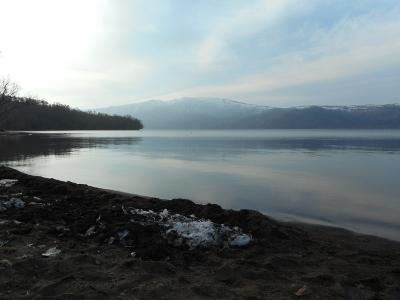 4月30日の屈斜路湖