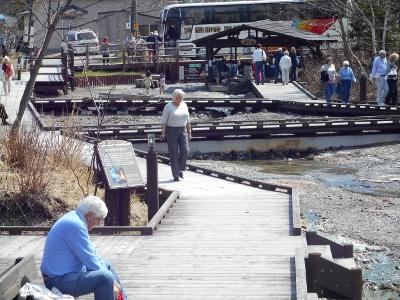 外国人観光客も川湯へ