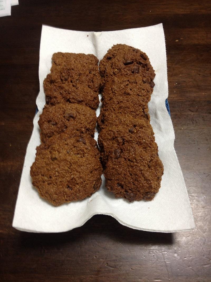 コーヒー風味のチョコチップクッキー
