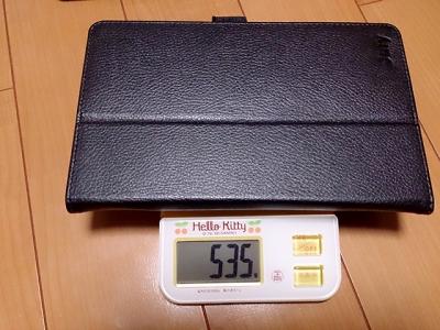 Venueとレザーケースの重さ