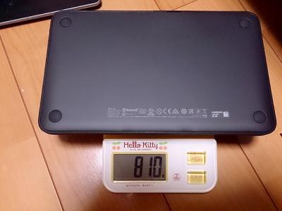 Venue、純正キーボードとケースの重さ