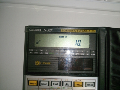 fx-50F液晶表示部