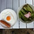 鹿野キャンプ場朝食