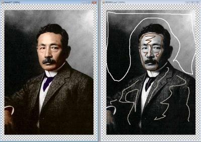 夏目漱石着色過程_R