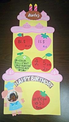 誕生日記念 表