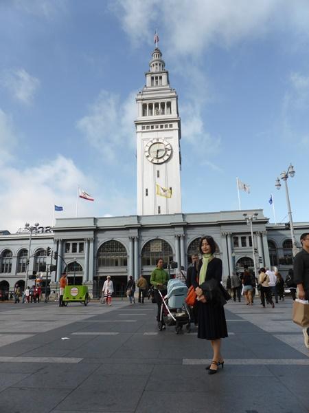 サンフランシスコ桟橋前にて