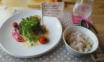 お魚ランチのメインとご飯